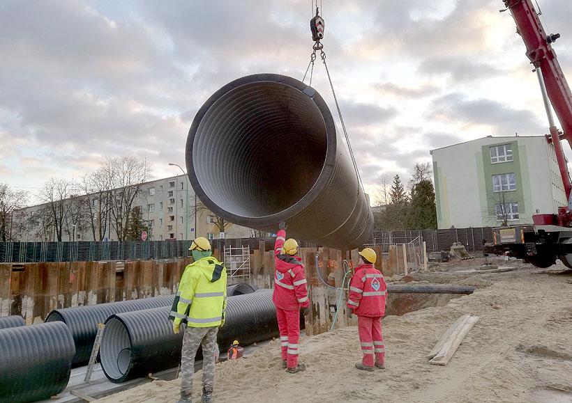 «Упонор Инфра» поставила накопительные резервуары ВЕХОЛАЙТ для системы ливневой канализации в польском городе Мелец