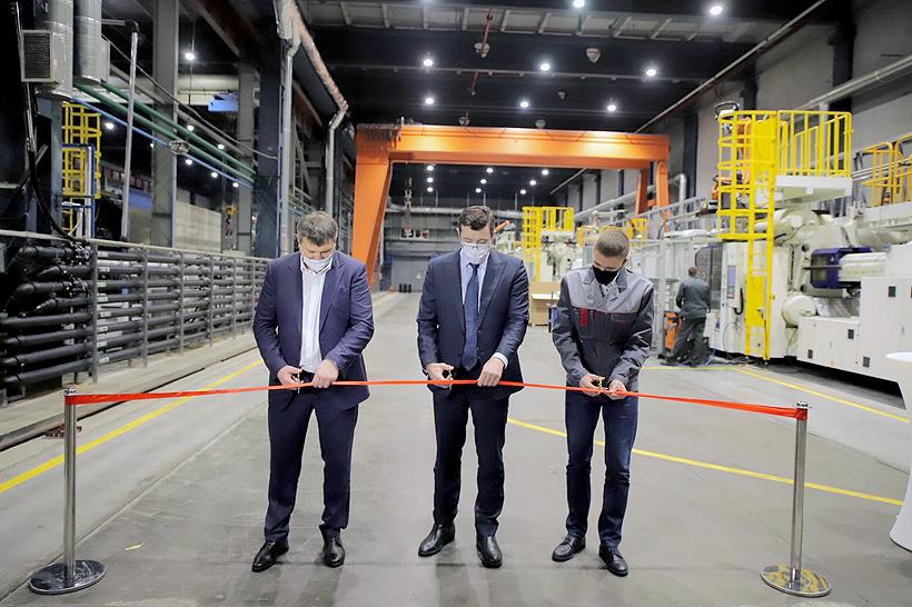Губернатор Нижегородской области Глеб Никитин принял участие в открытии производство крупногабаритного литья изделий из пластмасс в ОЭЗ «Кулибин»