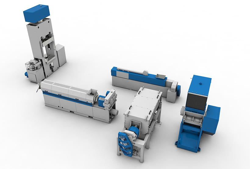 Линия Polimechпо переработке использованных бутылок из ПЭТФ производительностью 500 кг/ч