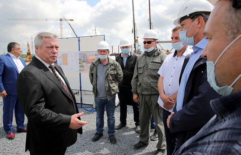 Губернатор Ростовской области Василий Голубев посетил строительную площадку Шахтинского полиэфирного завода