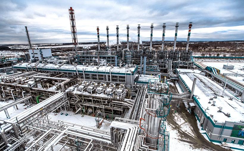 Вид сверху на внутренний периметр производственной площадки «СИБУР-Кстово»