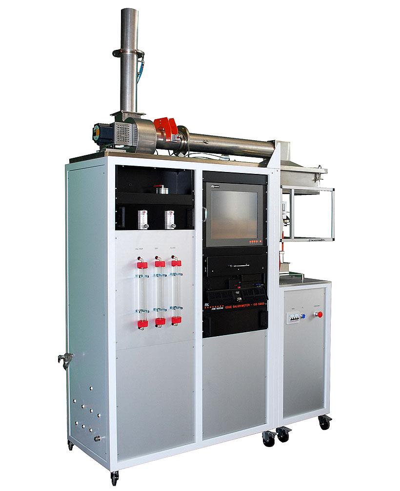 Лабораторный конический калориметр для определения класса огнестойкости полимерных материалов