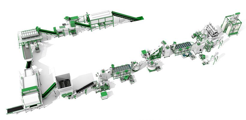 Новый комплекс компании «СтанкоПЭТ» модели СТАНКО ПЭТ-2000 по переработке использованных ПЭТ-бутылок в ПЭТ-флекс мощностью 2000 кг/ч, или 1200 т в месяц