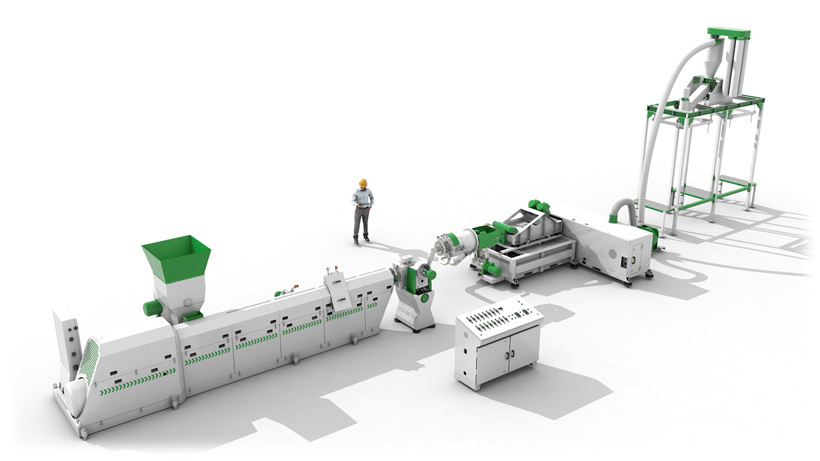Линия грануляции вторичных пластмасс СТАНКО-115 производства компании «СтанкоПЭТ»