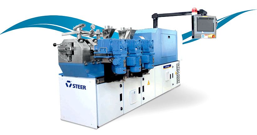 Усовершенствованный двухшнековый со-ротационный экструдер Omega производства STEER Engineering
