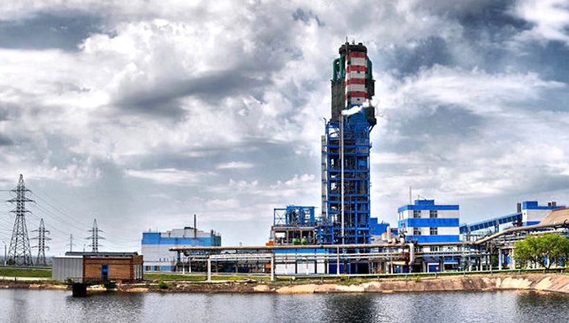 Производственные цеха завода «Стирол» в Горловке Донецкой области