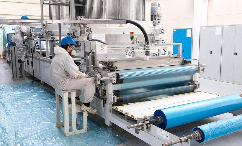 Производство полимерной пленки на заводе «Татнефть-Пресскомпозит»