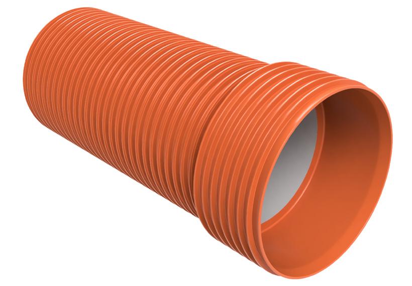 Новое поколение полипропиленовых канализационных труб Uponor Infra марки Ultra Rib 2 Blue производимое из марки Bornewables™ компании Borealis