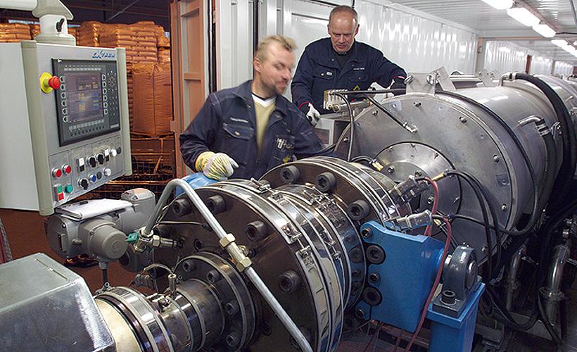 Экструзионные линии «Упонор Инфра» для производства полиэтиленовых труб