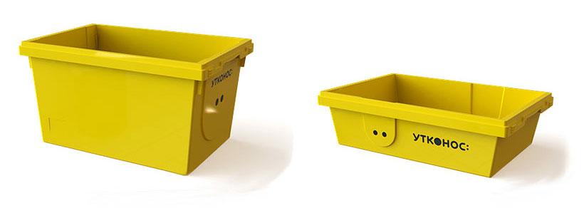 Контейнеры «Ай-Пласт» для онлайн-магазина «Утконос» с размерами размеры 600х400х325 мм и 600х400х165 мм