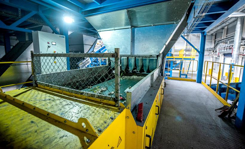 Промышленная линия сортировки твердых бытовых отходов
