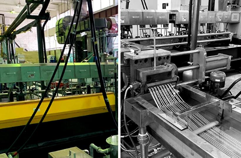 Четвертая линия каскадная линии грануляции компаундов на заводе Компания «МК-Полимер» в Северске