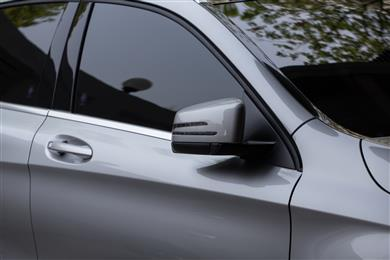 Top moulder Maier uses new ABS/PC from ELIX Polymers for exterior pillar cover.