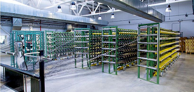 Оборудование для выпуска технических тканей на основе углеродного волокна предприятия «Препрег-Дубна»
