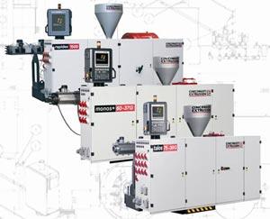 Cincinnati Extrusion, слева направо: экструдеры Rapidex, Monos+ и Talos