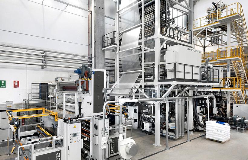 Экструзионная линия Bandera SmartFlex® для производства 3 и 5-слойных пленок