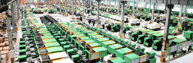 Полностью компьютеризированный завод по производству термопластавтоматов Borche в Гуанчжоу