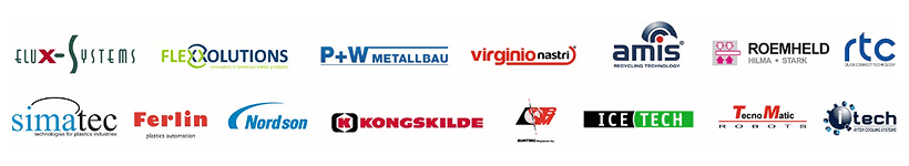 Партнеры Дифлекс: Roemheld-Hilma Elux Systems Flexxolutions   Ferlin (Голландия)   P+W Metallbaw  Kongskilde Industries  Bunting Magnetics   Nordson Polymer Processing Systems  ITECH RTS Couplings Tecnomatic Amis Maschinen-Vertiebs IceTech