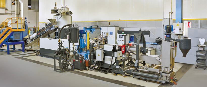 Лаборатория Gamma Meccanica по переработке пластмасс