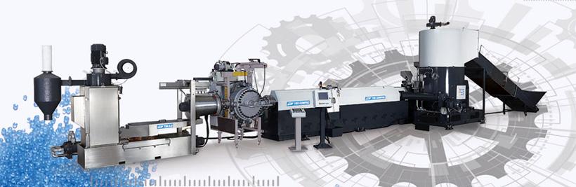 На линиях Gamma Meccanica S.p.A. можно перерабатывать такие материалы как LLDPE, HDPE, LDPE, HMWPE, EVA, PP, BOPP, OPP, PS, EPS, XPS, ABS, PC, PET, PA, TPU, TPE, биополимеры