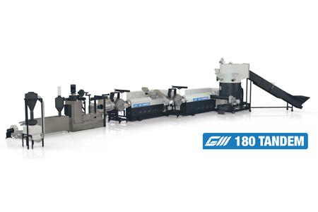 Линии TANDEM для переработки вторичных материалов с высоким процентом влажности, большим количеством печати и загрязнений