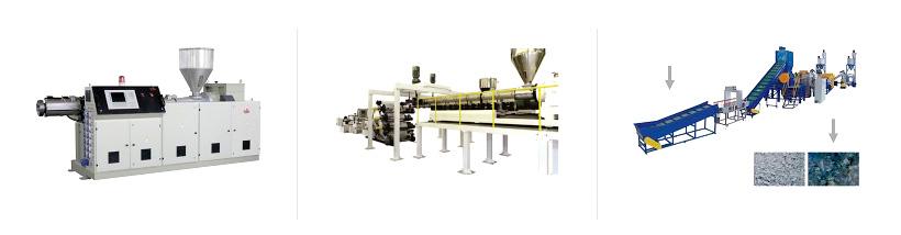 Экструдеры Экструзионные линии для производства листов и пленок Моечно-сушильные комплексы для переработки вторичных полимеров