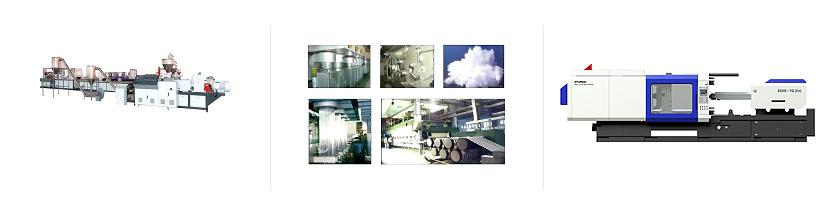 Грануляторы Линии производства пэт-волокна и нетканых материалов Термопластавтоматы