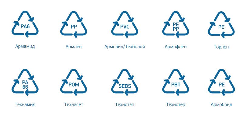 АРМЛЕН® — наполненные материалы на основе ПП, АРМАМИД® — наполненные материалы на основе ПА 6, ТЕХНАМИД А® — наполненные материалы на основе ПА 66, ТЕХНОТЕР А® — наполненные материалы на основе ПБТ.