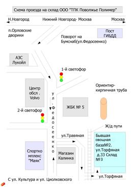Поволжье полимер: схема проезда